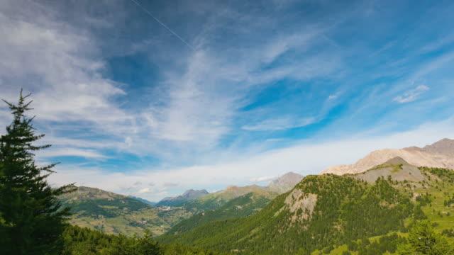Timelapse on the Italian Alps in summer video