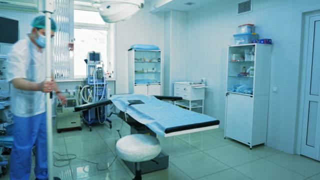Timelapse operating room preparation.