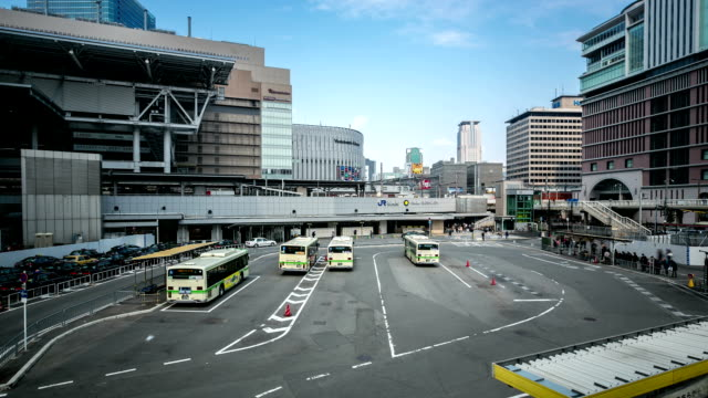 hd timelapse: osaka centrala buss stationen umeda - billboard train station bildbanksvideor och videomaterial från bakom kulisserna