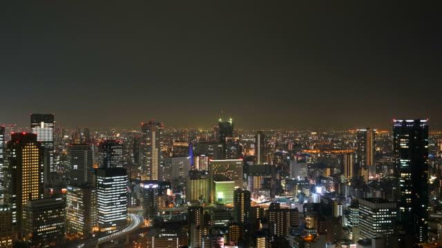 Timelapse Osaka City Skyline Video
