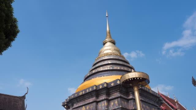 Time-lapse Pagoda in Wat Prathat Lampang Luang,Lampang province Thailand
