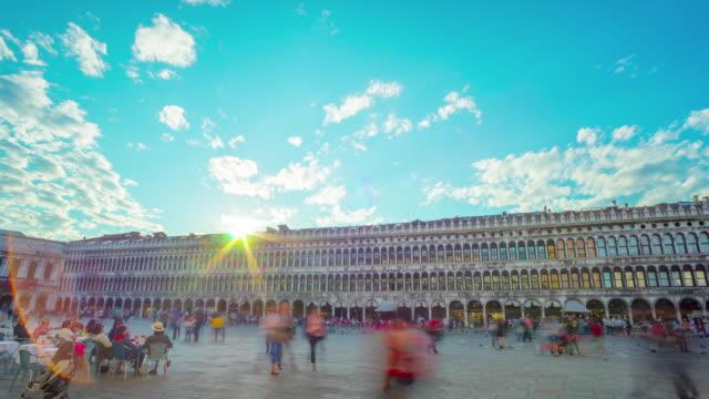 Timelapse pan of Saint Mark's Square in Venice. video