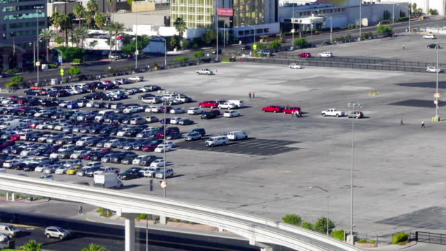 Timelapse Parking Lot A time lapse view of a Las Vegas parking lot filling up with cars before a convention. stuffed stock videos & royalty-free footage
