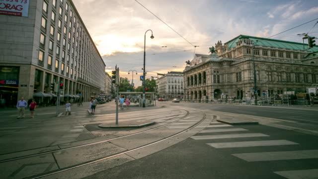 4K Time-lapse: Pedestrian Crowded at Vienna Opera Austria video