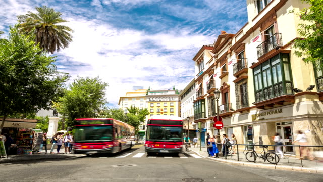 HD Time-lapse: Pedestrians at Seville downtown Square, Spain video