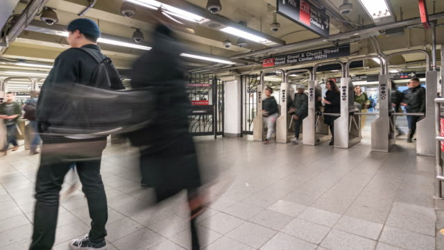 Time-lapse: Pedestrians Crowd in New York metro Subway train Station gate 4K Time-lapse: Pedestrians Crowd in New York metro Subway train Station gateApple ProRes 422 (HQ) 3840x2160 Format new york city subway stock videos & royalty-free footage