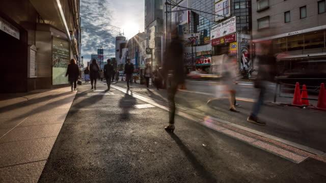4K Time-lapse: Pedestrians crowded at Harajuku Tokyo video