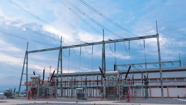 vídeos y material grabado en eventos de stock de 4 k timelapse: central eléctrica - generadores