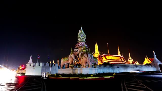 Timelapse public domain Temple of the Emerald Buddha.(Wat Phra Kaew.) Bangkok, Thailand. video