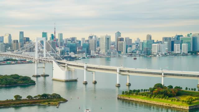 東京タワーとレインボー ブリッジのタイムラプス ビデオ