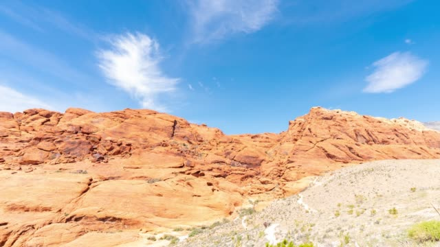 time-lapse red rock canyon in las vegas nevada usa - red rock canyon national conservation area video stock e b–roll