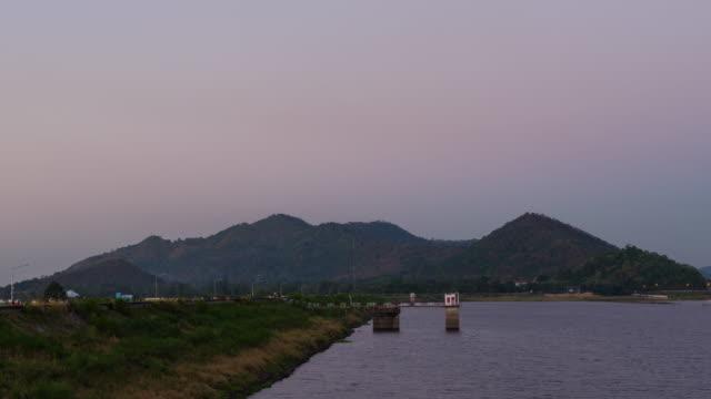 Timelapse  reservoir in thailand 4k footage video