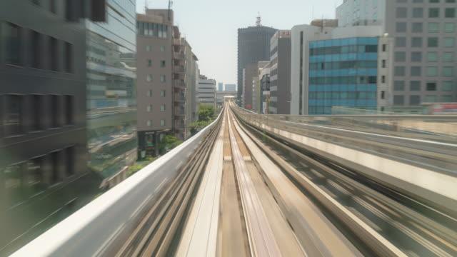 time-lapse: Riding monorail in Kobe Kansai Japan