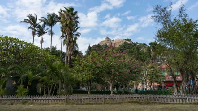 timelapse - riguangyan på gulangyu island, xiamen, kina - xiamen bildbanksvideor och videomaterial från bakom kulisserna