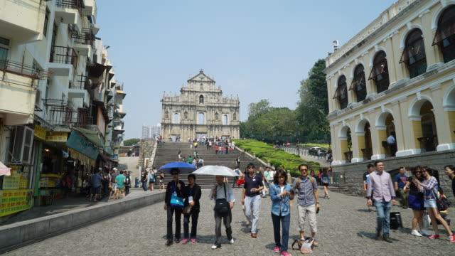 Timelapse Ruins Of St Paul's Church In Macau video
