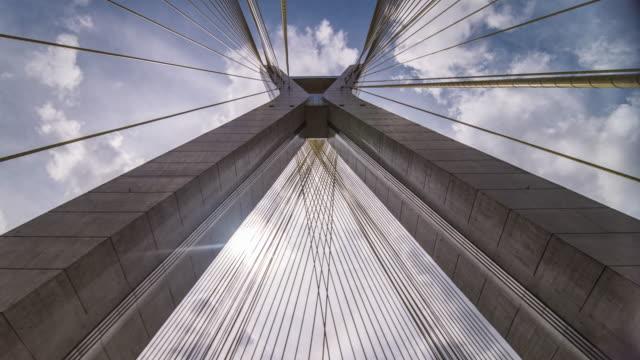 timelapse sao paulo - estaiada bridge - bridge stok videoları ve detay görüntü çekimi