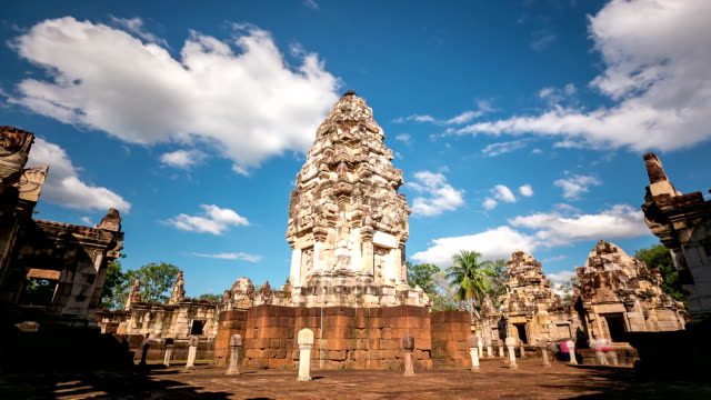 HD time-lapse: Sdok Kok Thom Castle, Cambodia Khmer style Thailand video
