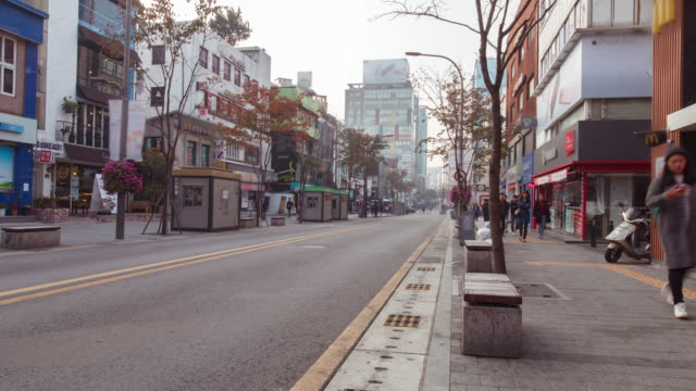 Time-lapse Seoul City day to night of crowd city life video