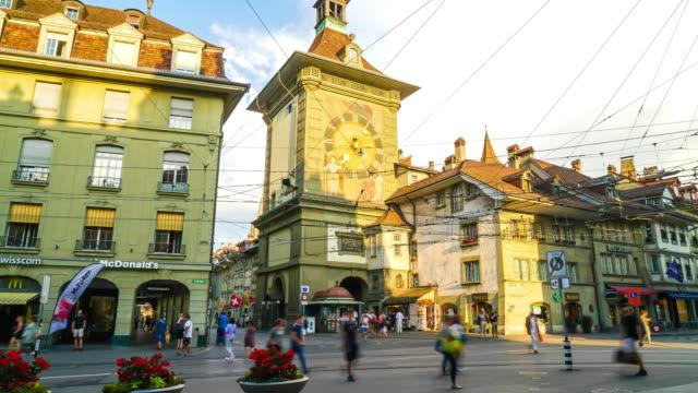 bern city alışveriş timelapse - unesco stok videoları ve detay görüntü çekimi