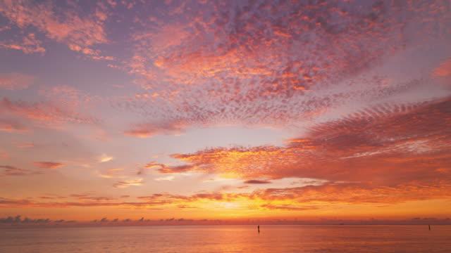 タイムラプスは、日没の Cloudscape のショット。日本 ビデオ