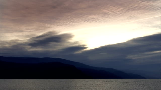 timelapse shot of Okanagan Lake from Peachland video