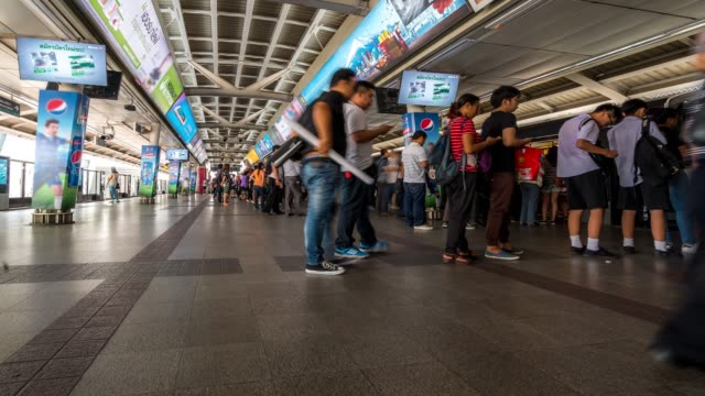 Time-lapse: Siam sky train metro station 4K Time-lapse: Siam sky train metro station, Apple ProRes 422 (HQ) 3840x2160 Format subway station stock videos & royalty-free footage