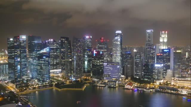 time-lapse Singapore City