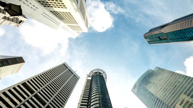 HD Time-lapse: Singapore Cityscape Office Background