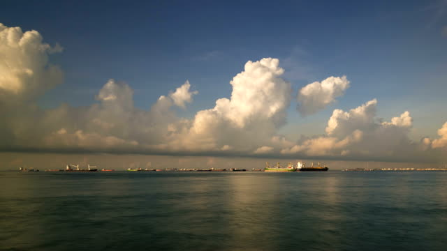 Time-lapse Singapore Keppel Bay video