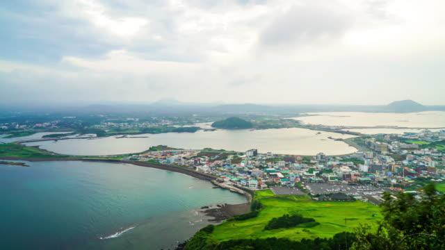 timelapse skyline city scape in Jeju video