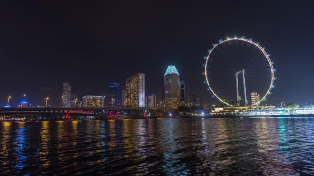 4K Zeitraffer: Skyline von Marina Bay, Singapur – Video