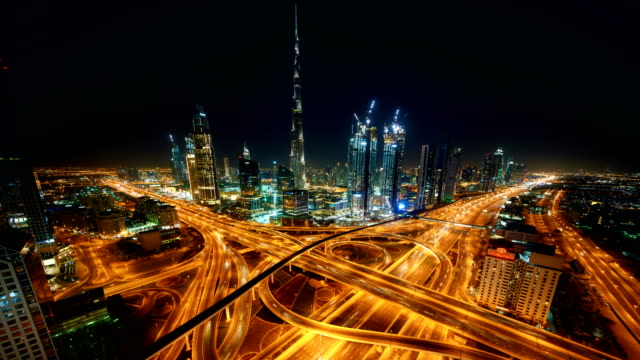 dubai timelapse skyline - dubai architecture stock videos & royalty-free footage