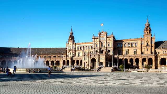 HD Time-lapse: Spanish Square espana Plaza in Sevilla Spain video