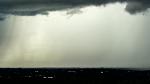Timelapse Storm clouds with the rain video
