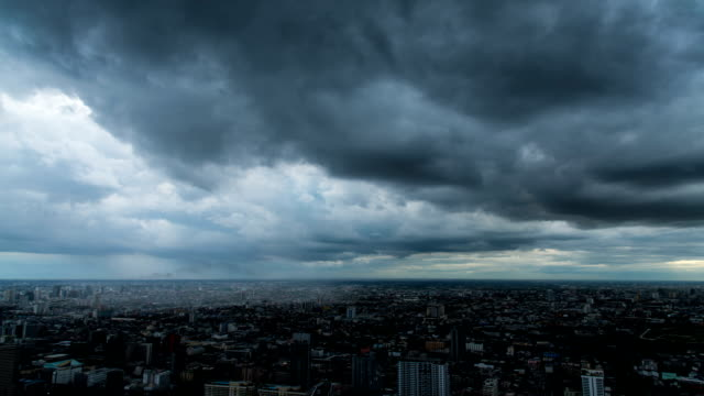 HD Timelapse : Storm in the city video