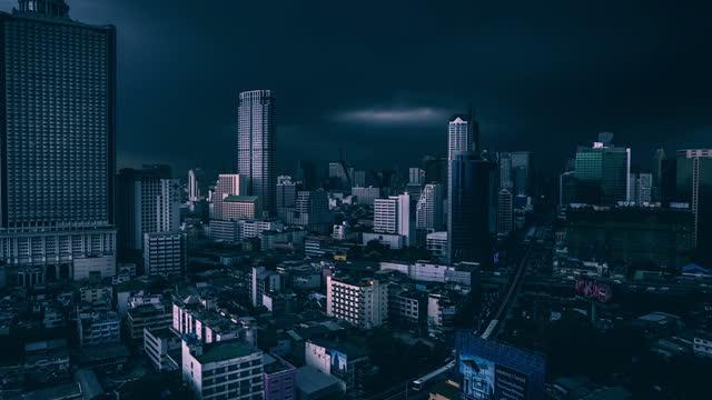 Timelapse storm of bangkok