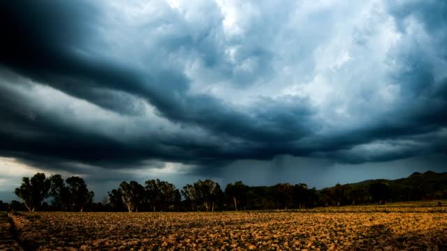 timelapse stormy sky video