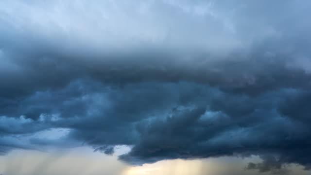 Timelapse Stromy cloud video