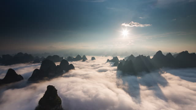 Timelapse sunrise above clouds part 3 video