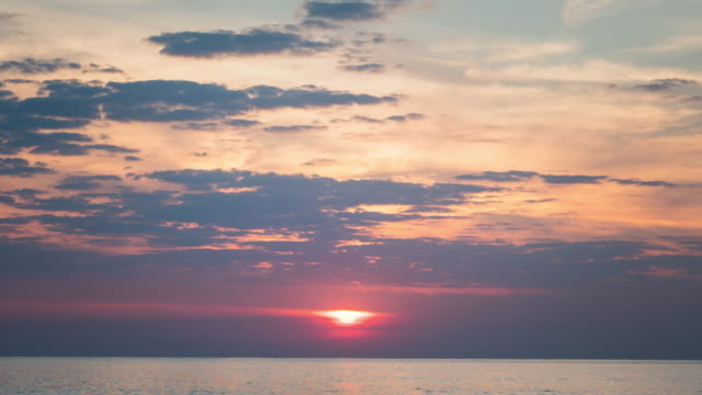 4K Time-lapse : Sunrise over sea video