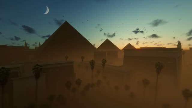 Timelapse sunrise over the Great Pyramids at Giza, Cairo, Egypt 4K