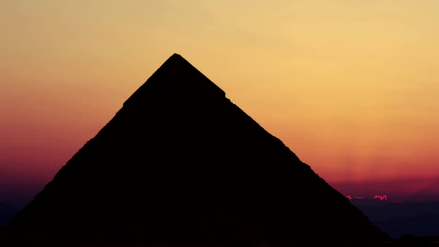 Timelapse. Sunrise over the pyramid of Cheops. Giza Egypt. video