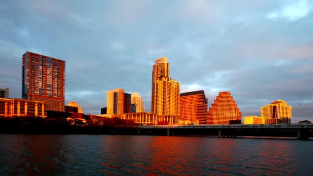 Timelapse sunset of the Austin skyline video