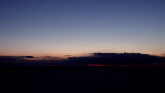 微北極アラスカ冬のサンセット ビデオ