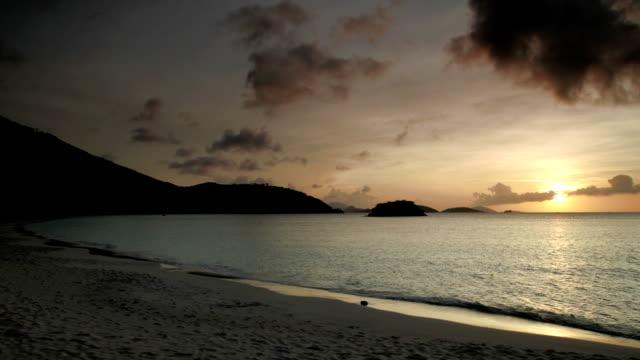 timelapse sunset video of Cinnamon Bay Beach, St.John, USVI video