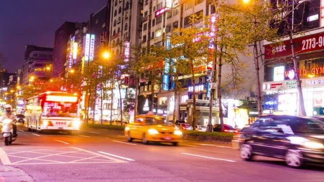 4K Time-Lapse: Taipei Skyline Cityscape at Zhongxiao E. road video