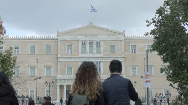 Timelapse - telephoto -  Athens 4K RAW footage - people at Syntagma square, Plaka, Ermou Street, Monastiraki video