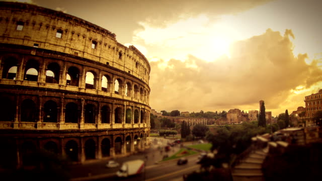 timelapse: the colosseum of rome hd video - italian architecture stock videos & royalty-free footage