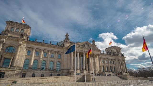 タイムラプス。連邦議会の有名な建物は、ベルリンのシンボルの一つです - 民主主義点の映像素材/bロール