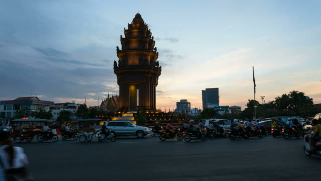 Timelapse -The Independence Monument in Phnom Penh video